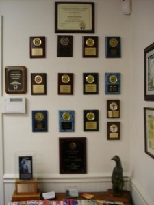 hypnotist awards wall